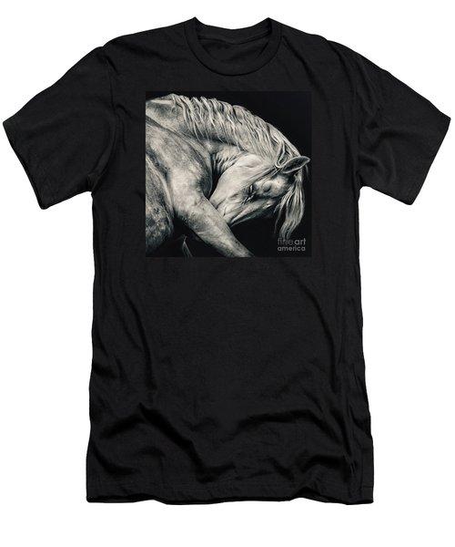 Arabian Beauty White Horse Portrait Men's T-Shirt (Athletic Fit)