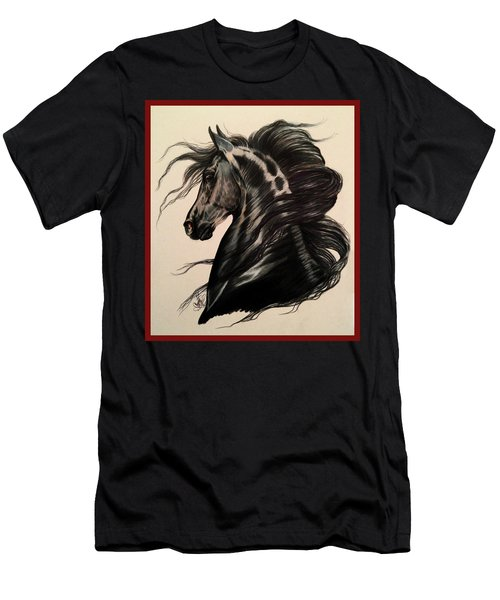 Arabian Grey On A Stormy Night Men's T-Shirt (Athletic Fit)