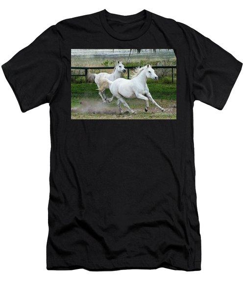 Arabian Horses Running Men's T-Shirt (Athletic Fit)