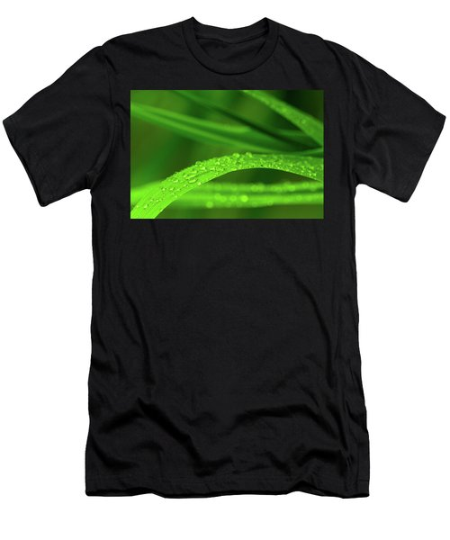 Men's T-Shirt (Athletic Fit) featuring the photograph Arc Of Raindrops by SR Green