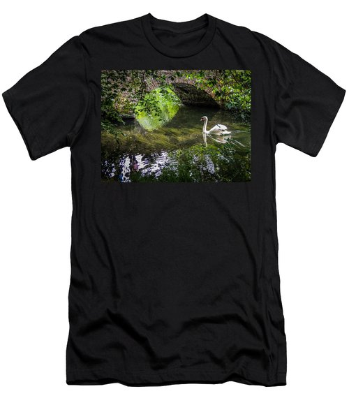Arched Bridge And Swan At Doneraile Park Men's T-Shirt (Athletic Fit)