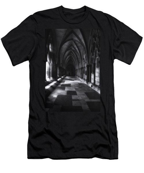 Men's T-Shirt (Slim Fit) featuring the photograph Arched Corridor by Andrew Soundarajan