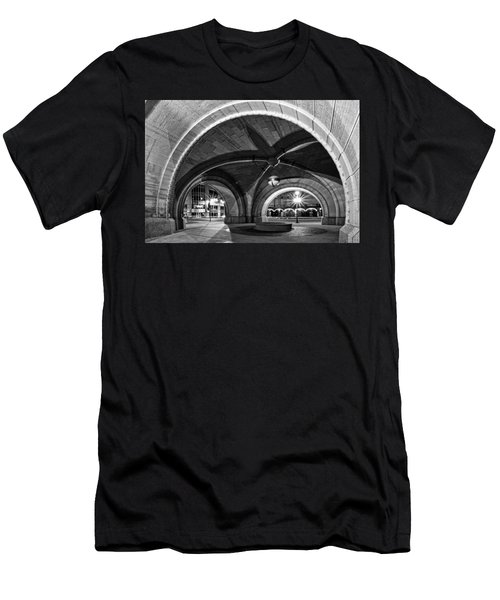 Arched In Black And White Men's T-Shirt (Athletic Fit)
