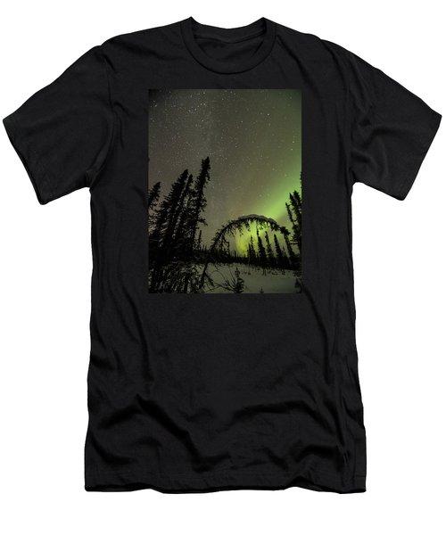 Arched Spruce Aurora Men's T-Shirt (Athletic Fit)