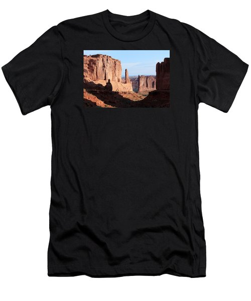 Men's T-Shirt (Slim Fit) featuring the photograph Arches Morning by Elizabeth Sullivan