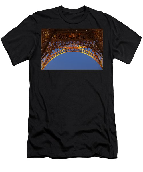 Men's T-Shirt (Slim Fit) featuring the photograph Arches Of The Eiffel Tower by Andrew Soundarajan