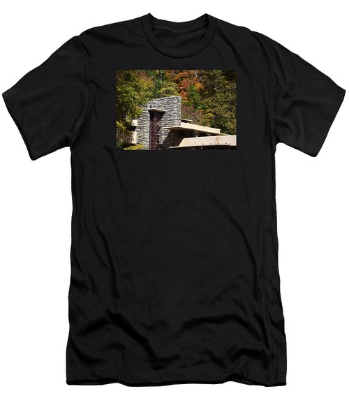 Architectural Detail Of Fallingwater -  Frank Lloyd Wright Men's T-Shirt (Athletic Fit)