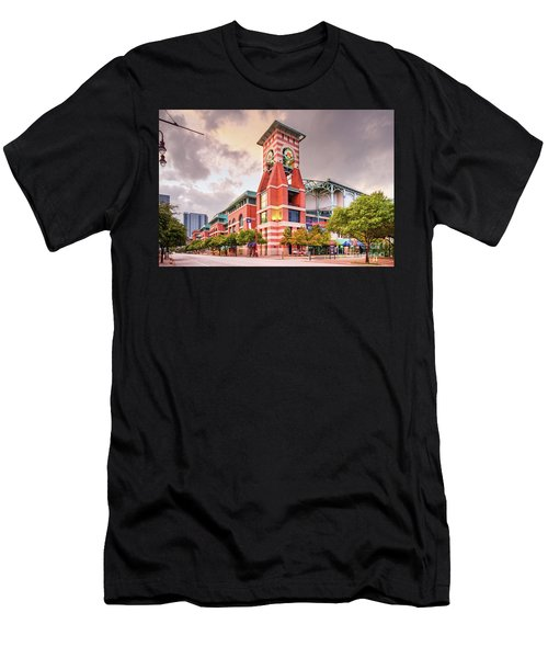 Architectural Photograph Of Minute Maid Park Home Of The Astros - Downtown Houston Texas Men's T-Shirt (Athletic Fit)