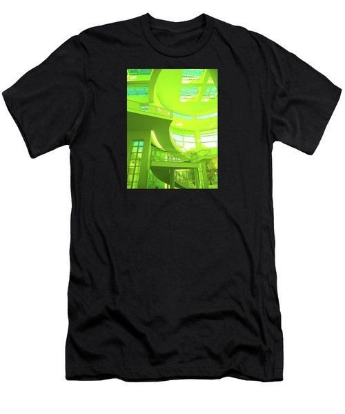 Green Splash Architecture Men's T-Shirt (Athletic Fit)