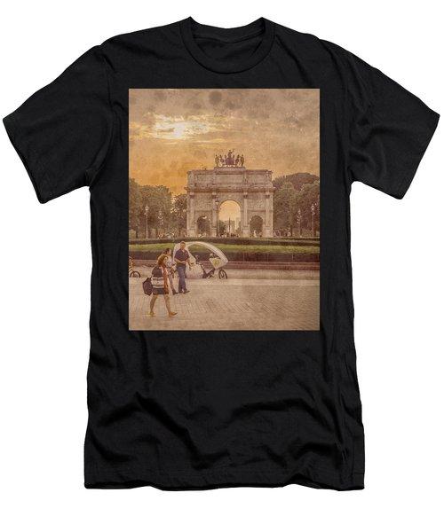 Paris, France - Arcs Men's T-Shirt (Athletic Fit)