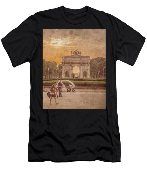 Paris, France - Arcs Men's T-Shirt (Athletic Fit)