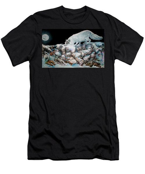 Men's T-Shirt (Slim Fit) featuring the painting Arctic Encounter by Sherry Shipley