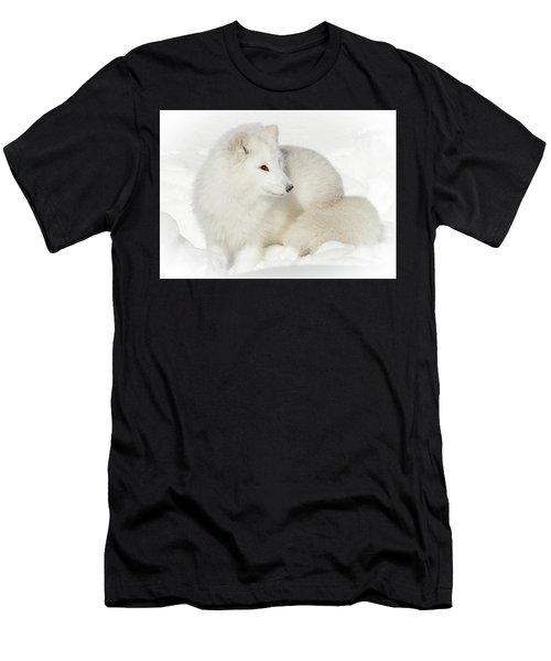 Arctic Fox Snow Bunny Men's T-Shirt (Athletic Fit)
