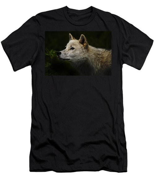 Men's T-Shirt (Slim Fit) featuring the photograph Arctic Wolf Portrait by Michael Cummings