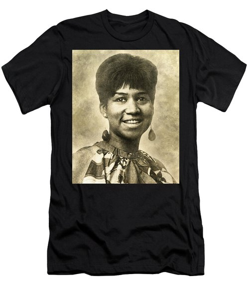 Aretha Franklin Queen Of Soul Men's T-Shirt (Athletic Fit)