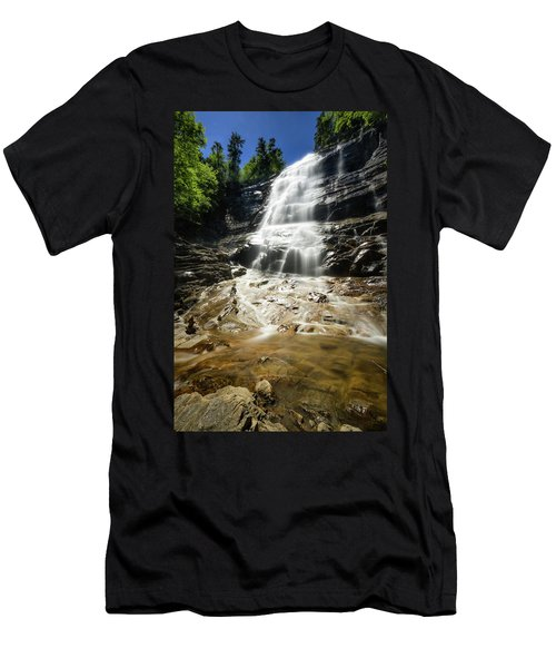 Men's T-Shirt (Slim Fit) featuring the photograph Arethusa Falls by Robert Clifford