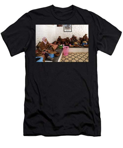 Men's T-Shirt (Slim Fit) featuring the photograph Argan Oil 1 by Andrew Fare