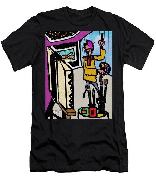 Artiste In The Studio Men's T-Shirt (Athletic Fit)