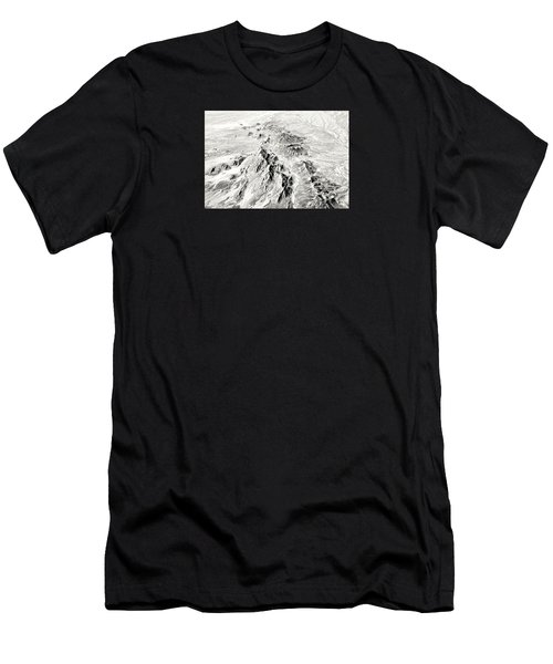 Arizona Desert In Black And White Men's T-Shirt (Athletic Fit)