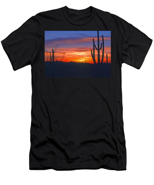 Arizona Desert Sunset Men's T-Shirt (Athletic Fit)