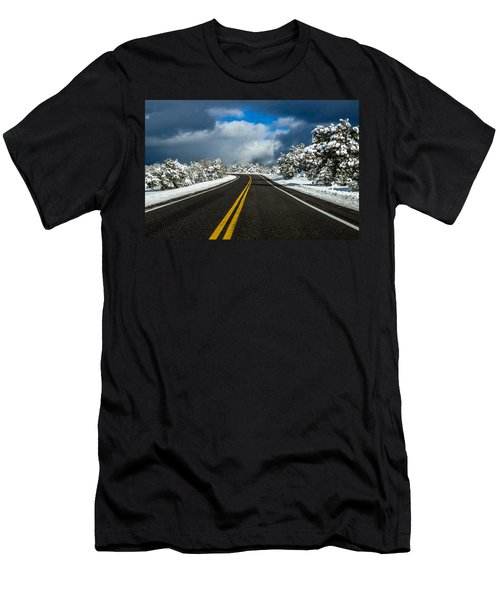 Arizona Snow Road Men's T-Shirt (Athletic Fit)
