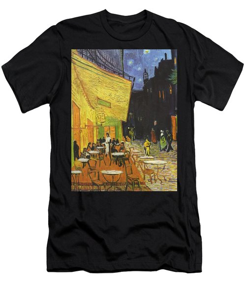 Arles Cafe Terrace At Night Men's T-Shirt (Athletic Fit)