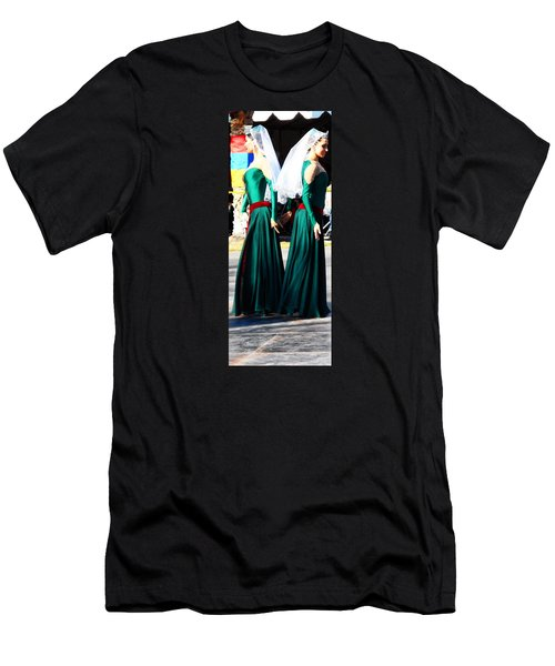 Armenian Dancers 8 Men's T-Shirt (Athletic Fit)