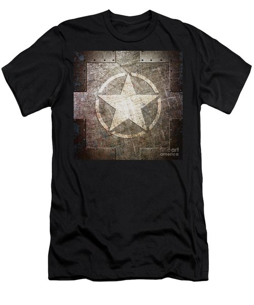 Army Star On Steel Men's T-Shirt (Athletic Fit)