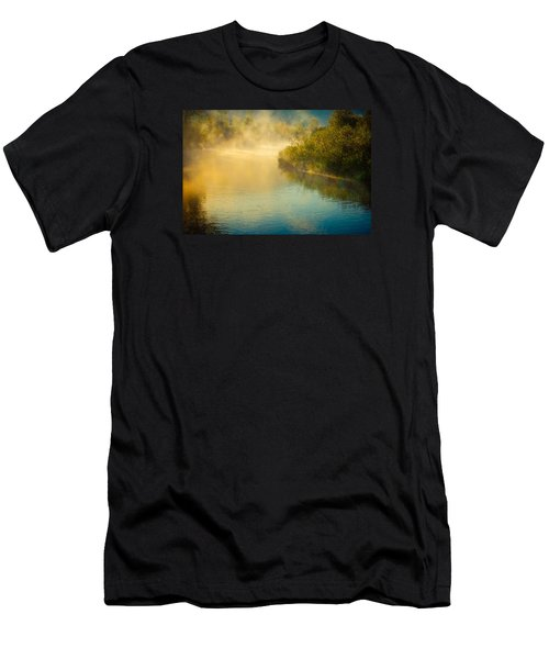Men's T-Shirt (Slim Fit) featuring the photograph Around The Bend by Don Schwartz