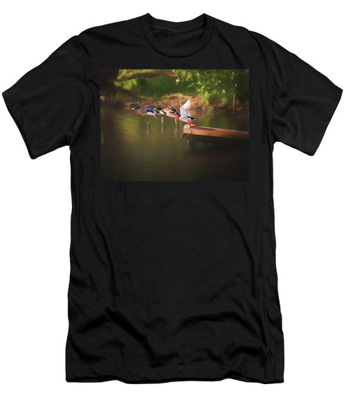 Around The River Men's T-Shirt (Athletic Fit)