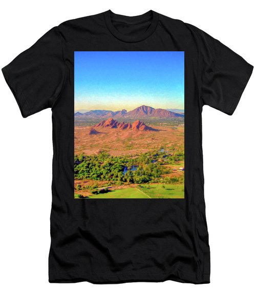 Arriving In Phoenix Digital Watercolor Men's T-Shirt (Athletic Fit)