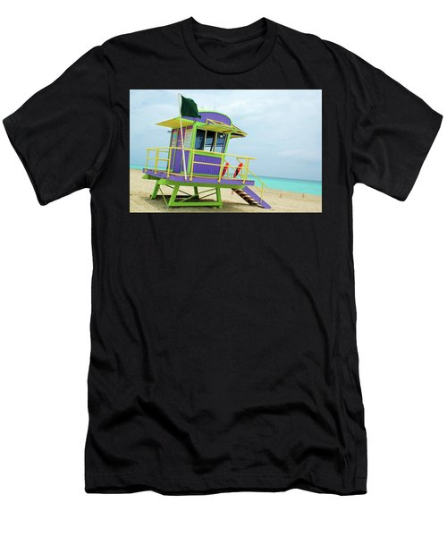 Art Deco Lifeguard Shack Men's T-Shirt (Athletic Fit)