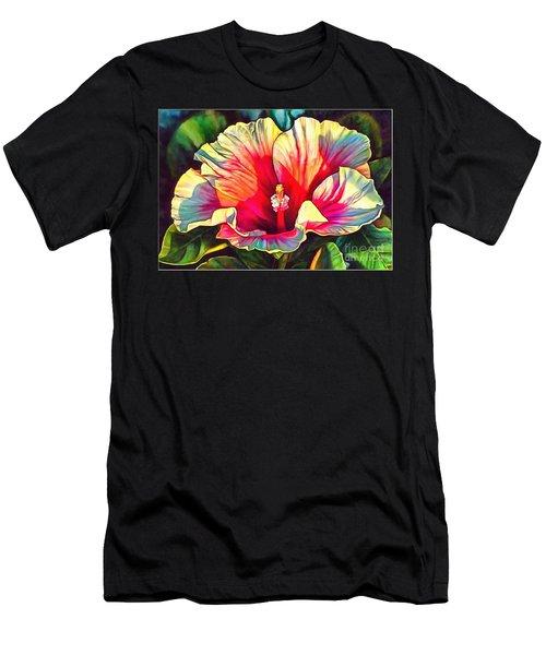 Art Floral Interior Design On Canvas Men's T-Shirt (Athletic Fit)
