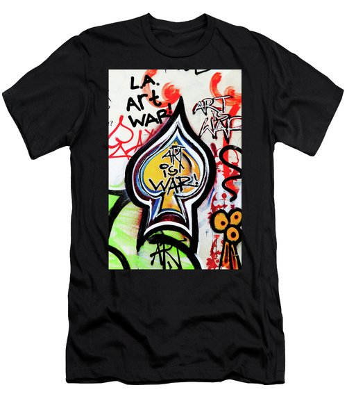 Men's T-Shirt (Slim Fit) featuring the photograph Art Is War by Art Block Collections