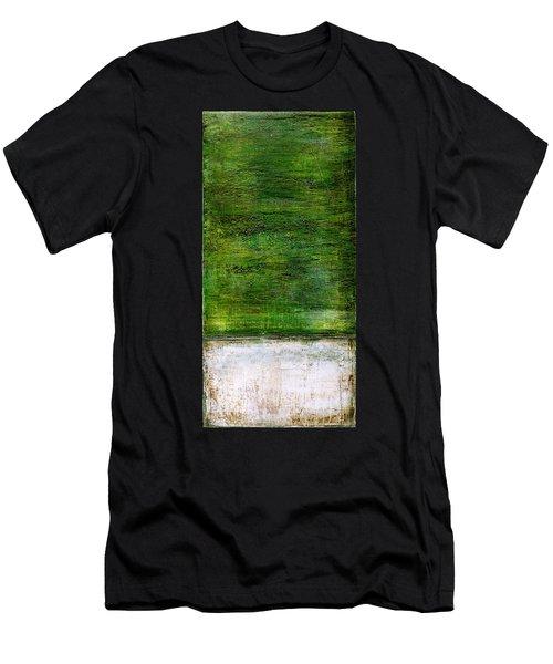 Art Print Green White Men's T-Shirt (Athletic Fit)