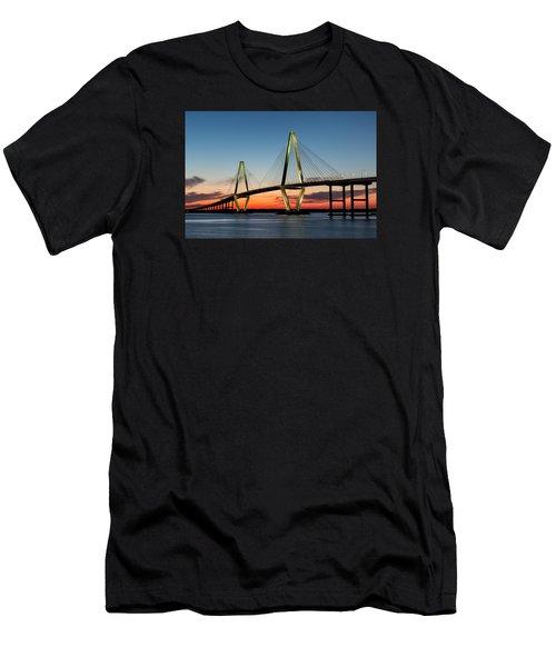 Arthur Ravenel Bridge, Charleston At Twilight Men's T-Shirt (Athletic Fit)