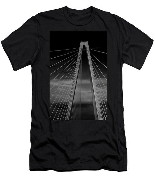Arthur Ravenel Jr Bridge Men's T-Shirt (Slim Fit) by DigiArt Diaries by Vicky B Fuller