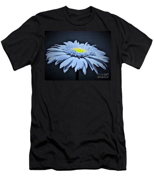 Artic Blue Gerber Daisy Men's T-Shirt (Athletic Fit)