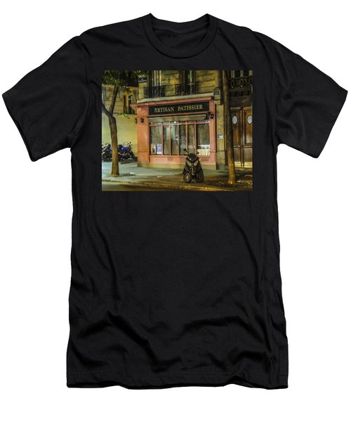 Men's T-Shirt (Slim Fit) featuring the photograph Artisan Patissier Montmartre Paris by Sally Ross