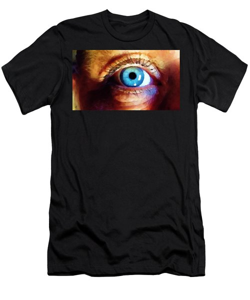 Men's T-Shirt (Athletic Fit) featuring the digital art Artist Eye View by Shelli Fitzpatrick