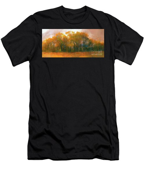 Artistic Fall Colors In The Blue Ridge Ap Men's T-Shirt (Athletic Fit)