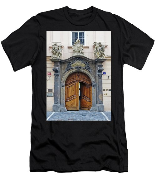 Artistic Ornate Door In Prague Men's T-Shirt (Athletic Fit)