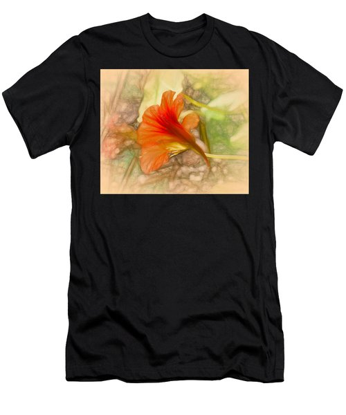 Artistic Red And Orange Men's T-Shirt (Athletic Fit)