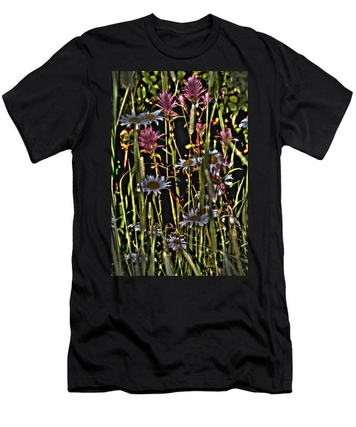 Artistic Wildflowers Men's T-Shirt (Athletic Fit)