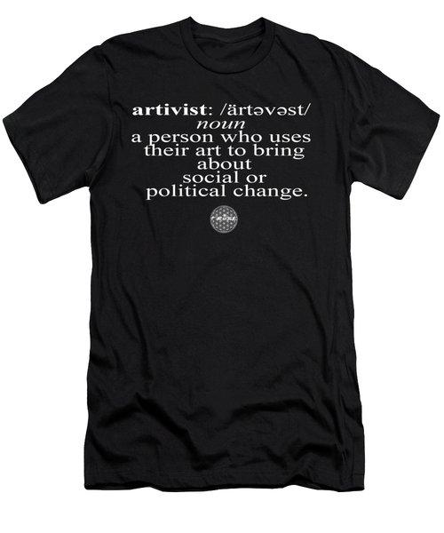 Men's T-Shirt (Slim Fit) featuring the digital art Artivism by Chief Hachibi