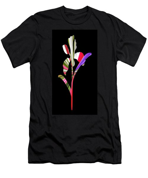 Artsy Flower With Black Background Men's T-Shirt (Athletic Fit)