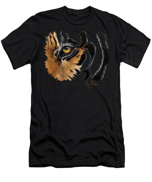 Tiger Eye Men's T-Shirt (Athletic Fit)