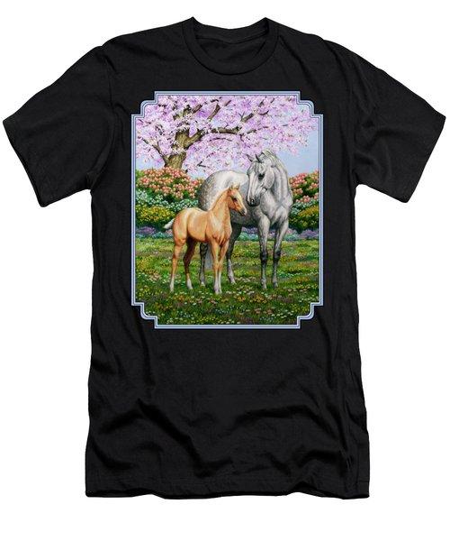 Spring's Gift - Mare And Foal Men's T-Shirt (Athletic Fit)