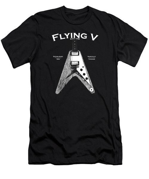 Gibson Flying V Men's T-Shirt (Slim Fit) by Mark Rogan