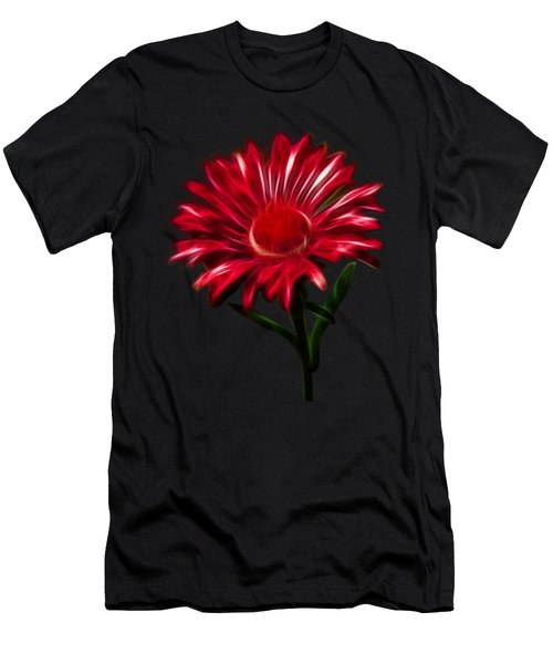 Red Daisy Men's T-Shirt (Athletic Fit)